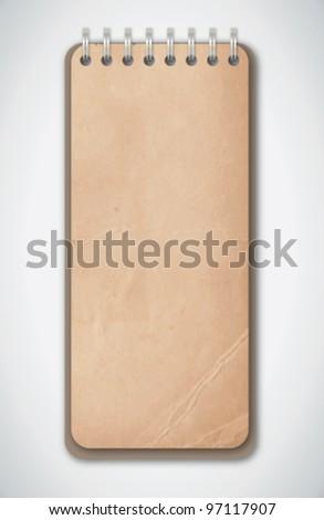 Old Grunge Notebook Vector