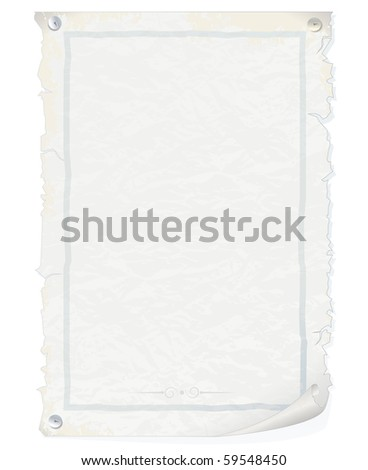 Old grunge paper-realistic vector illustration-for your design or text