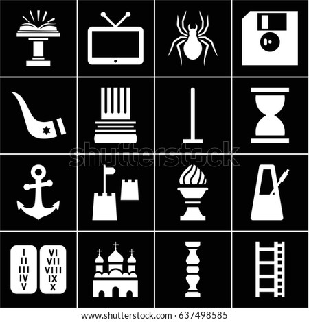 old icons set set of 16 old