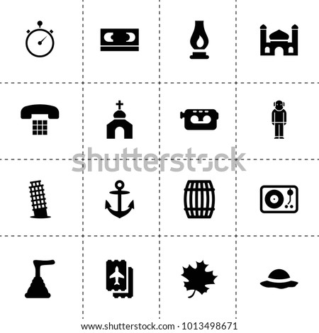 old icons vector collection