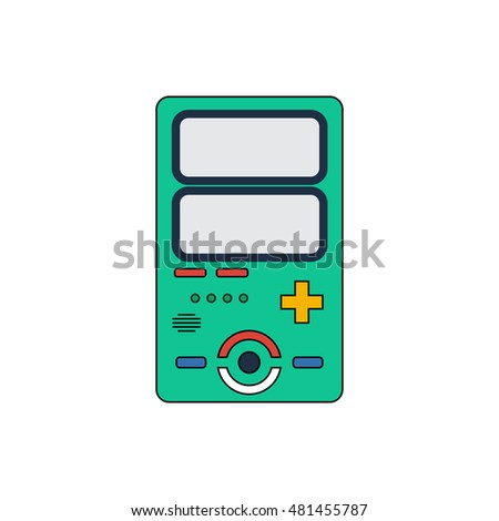 old invent gadget flat design