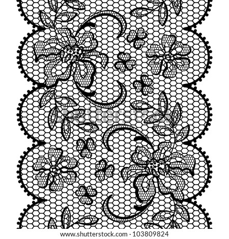 ... lace background, ornamental flowers. Vector texture. - stock vector