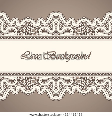 Old lace, seamless vintage background, vector illustration