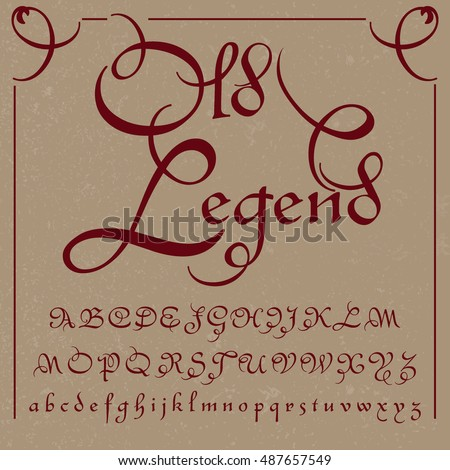 old legend   handcrafted vector