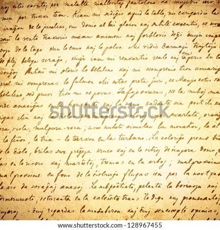 old letter  18 century  vintage
