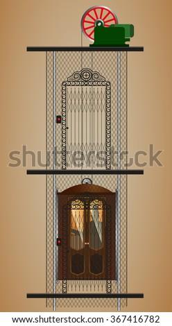 old lift  elevator