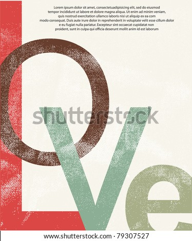 old love print background