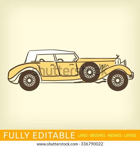 Old luxury car
