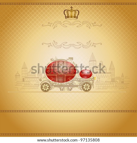 old luxury easter car background