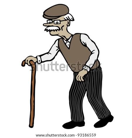 Old Man - stock vectorOld Black Man Cartoon Characters