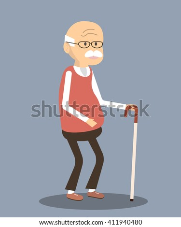 old man character an elderly