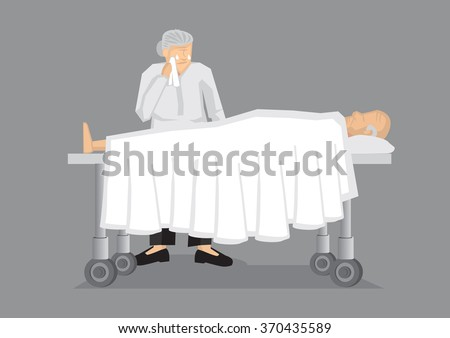 old man lying on hospital bed