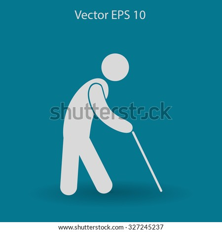 old man vector icon
