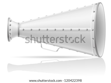 old megaphone vector illustration isolated on white background - stock vector