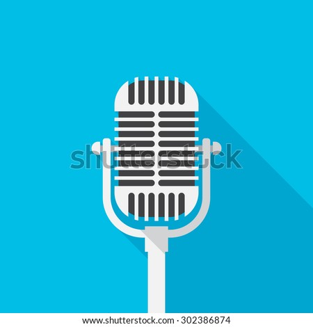 stock-vector-old-microphone-icon-with-long-shadow-flat-design-style-microphone-simple-silhouette-modern