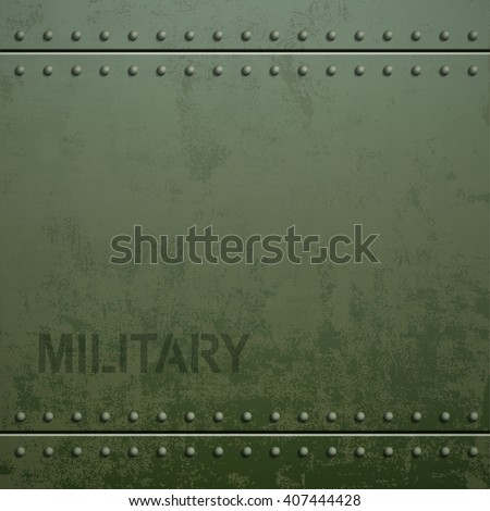 Old military armor texture with rivets. Metal background. Stock vector illustration.