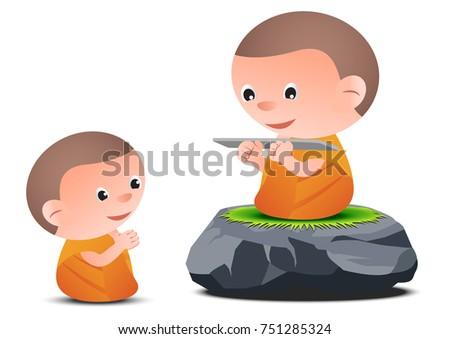 old monk teaches dharma to