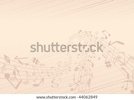 Old music papyrus .Vector illustration