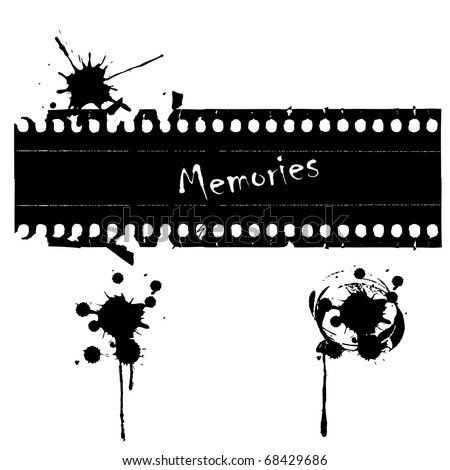 Old negative film strip vector