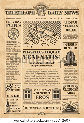 old newspaper vector template....