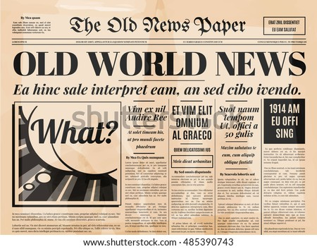 Vintage Old Newspaper Background - Download Free Vector Art, Stock