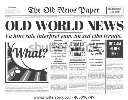 Free Old Newspaper Vector Download Free Vector Art Stock Graphics