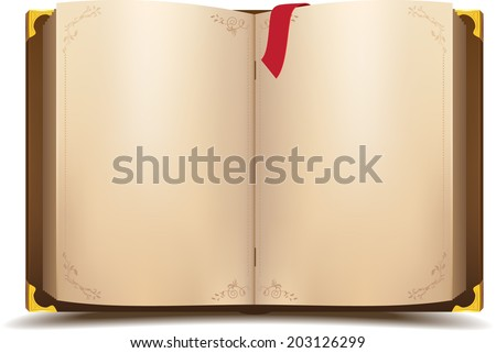 old open magic book vector
