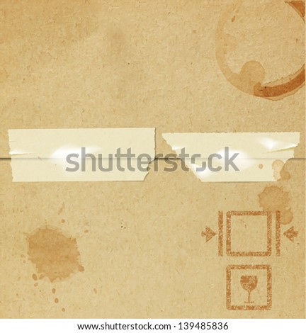 Old paper box texture background.