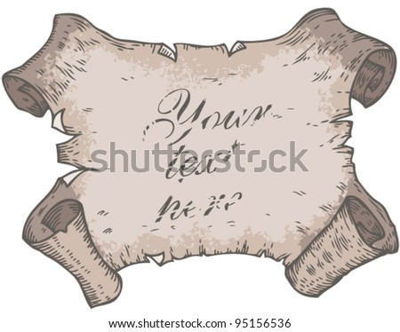 old paper isolated on white background - stock vector