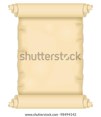 Old paper scroll, vector eps10 illustration