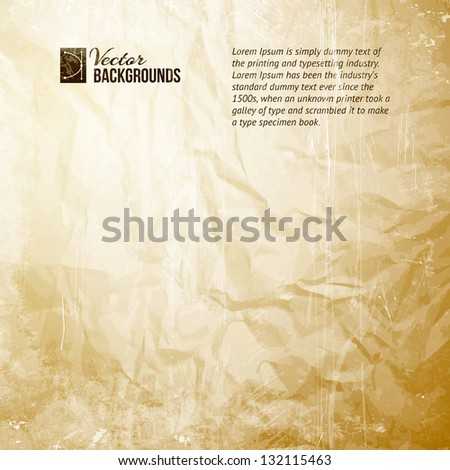 Old Paper Texture. Vector illustration, contains transparencies, gradients and effects.