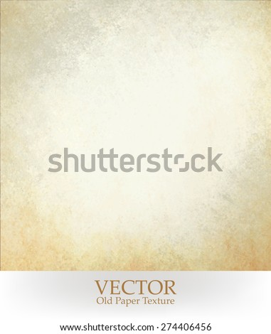 old paper texture vector. white background with yellowed stained border.