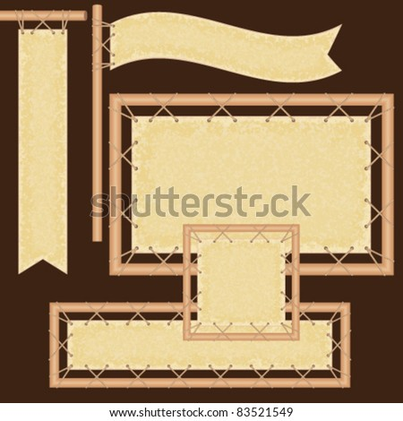 Old paper textured backgrounds on frames