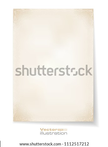 Old paper. Vector illustration