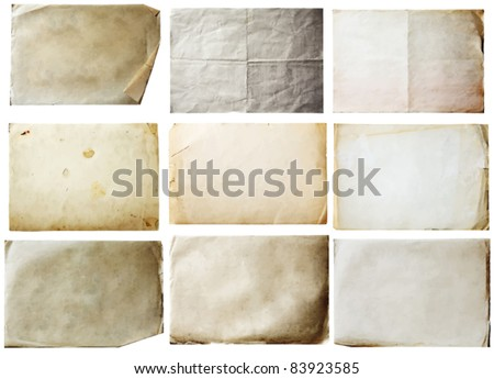 stock-vector-old-papers-set