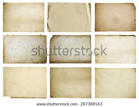 stock-vector-old-papers-set-isolated-vector