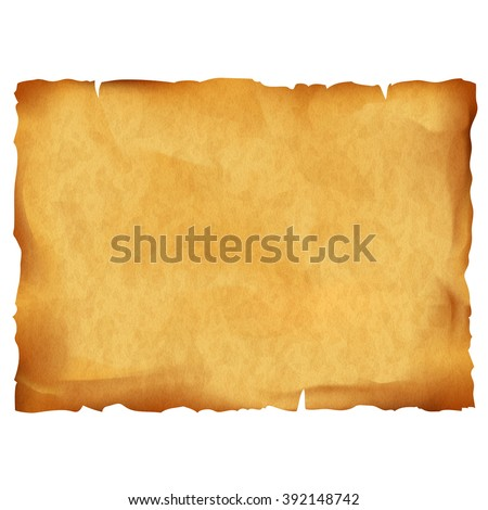 stock-vector-old-parchment-isolated-on-white-background-stock-vector-illustration
