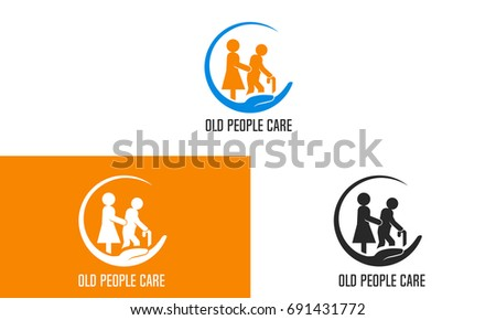 Old People Care Nursing Home  Logo Template