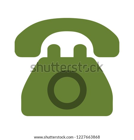 old phone icon in trendy flat style isolated on white background. old Telephone symbol for your design, logo, UI. Vector illustration
