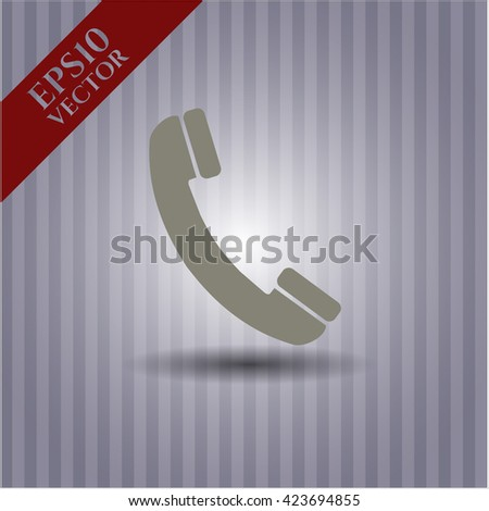 old phone icon vector symbol flat eps jpg app web concept