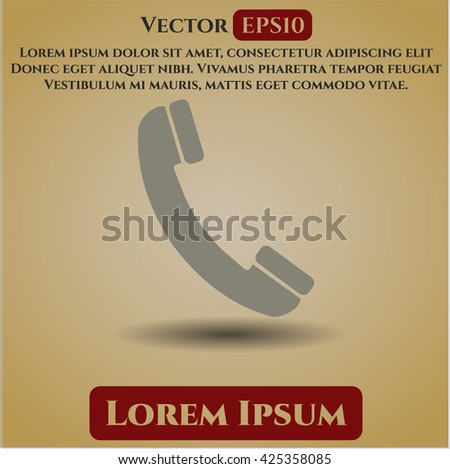 Old Phone vector icon