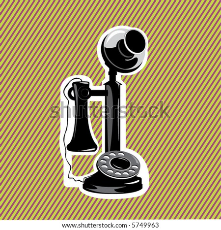 old phone- vector illustration