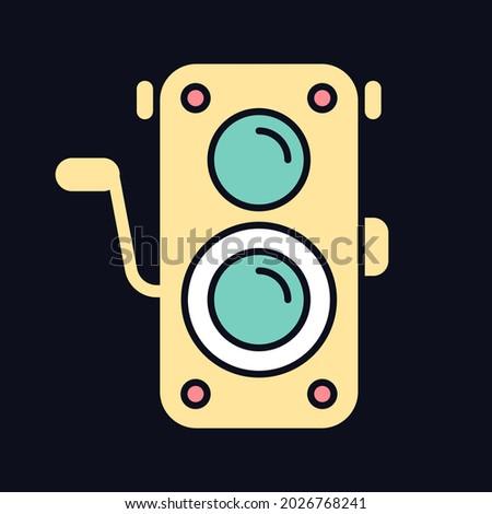 old photo camera rgb color icon