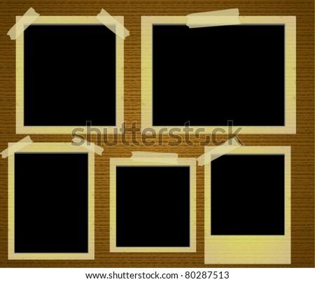 Old Photo Frames Vector