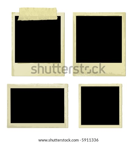 Old Photo Frames (vector). In the gallery also available XXL jpeg image made from this vector