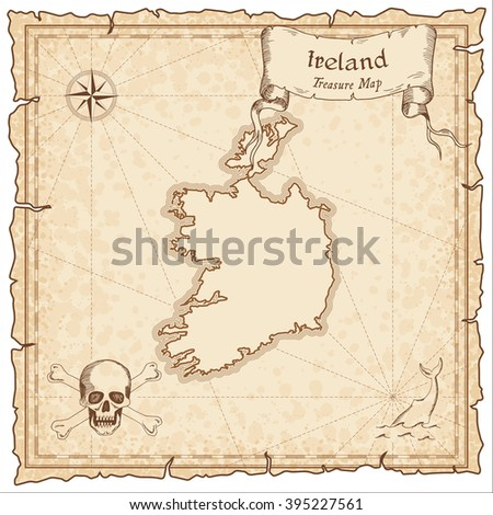 old pirate map of ireland