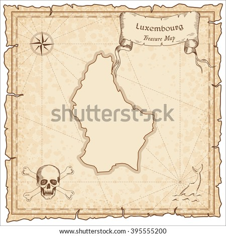 old pirate map of luxembourg