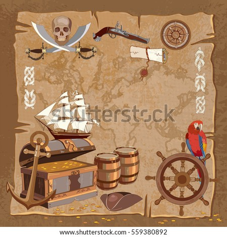 old pirate treasure map