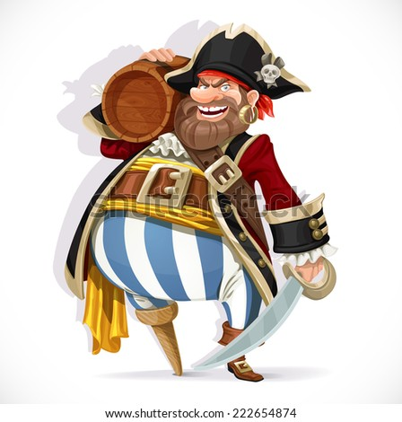 old pirate with a wooden leg