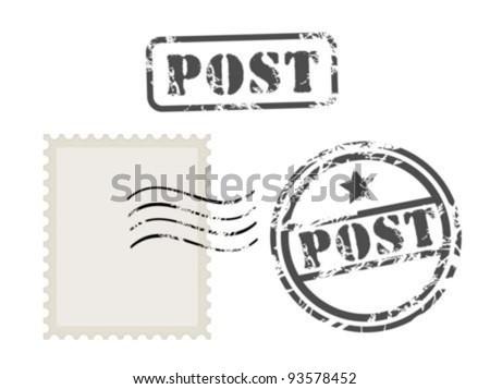 Old post stamp set
